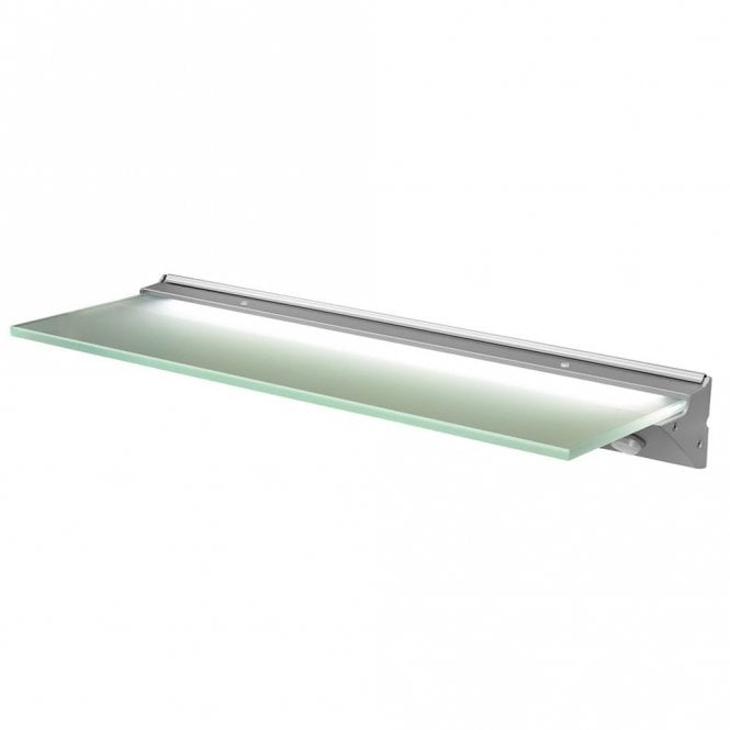 glass shelf lighting. Sensio Florence IP44 LED Glass Shelf Light - 500mm X 135mm Cool White SE30156W0 Lighting