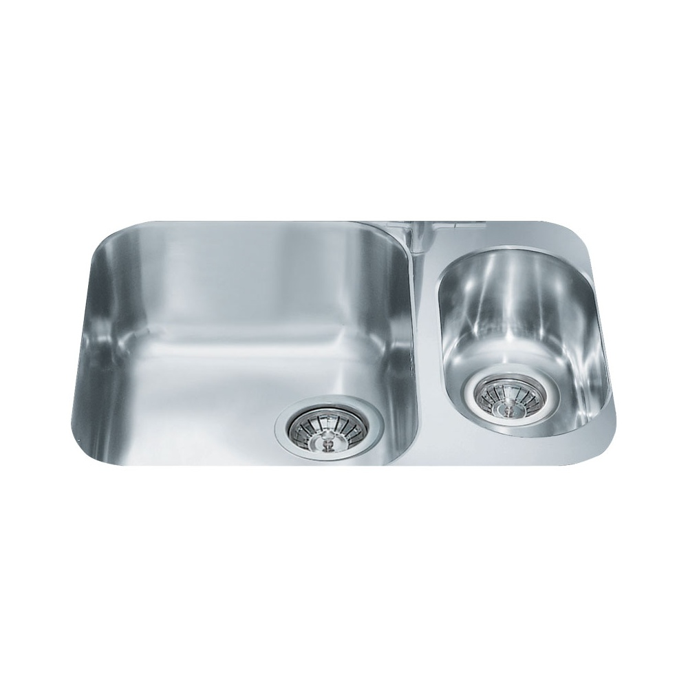 Smeg Alba 1.5 Bowl Brushed Stainless Steel Undermount Kitchen Sink ...