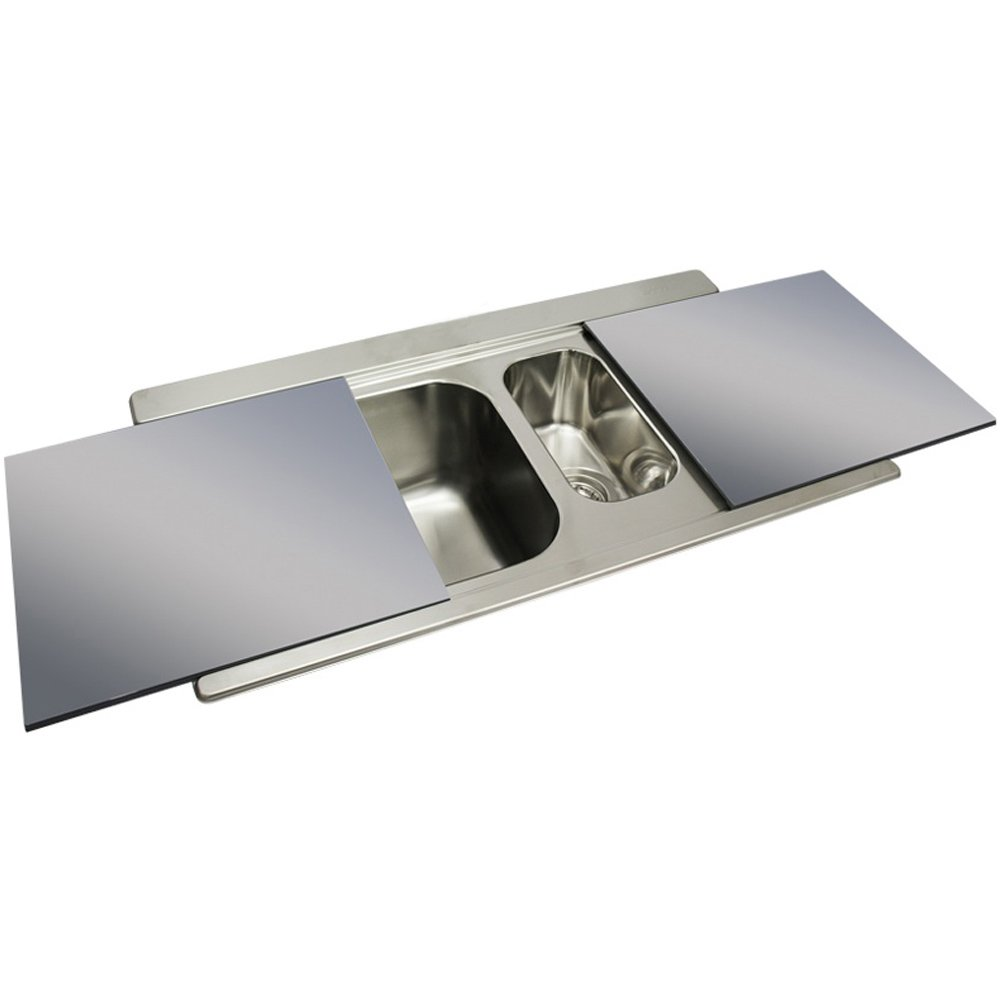 smeg iris 15 bowl brushed stainless steel kitchen sink silver glass - Glass Sink Kitchen