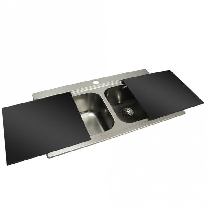 Smeg Iris 2.0 Bowl Brushed Stainless Steel Kitchen Sink & Black ...