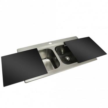 Glass kitchen Sinks | Double Bowl Kitchen Sink | Glass Bowl Sink ...