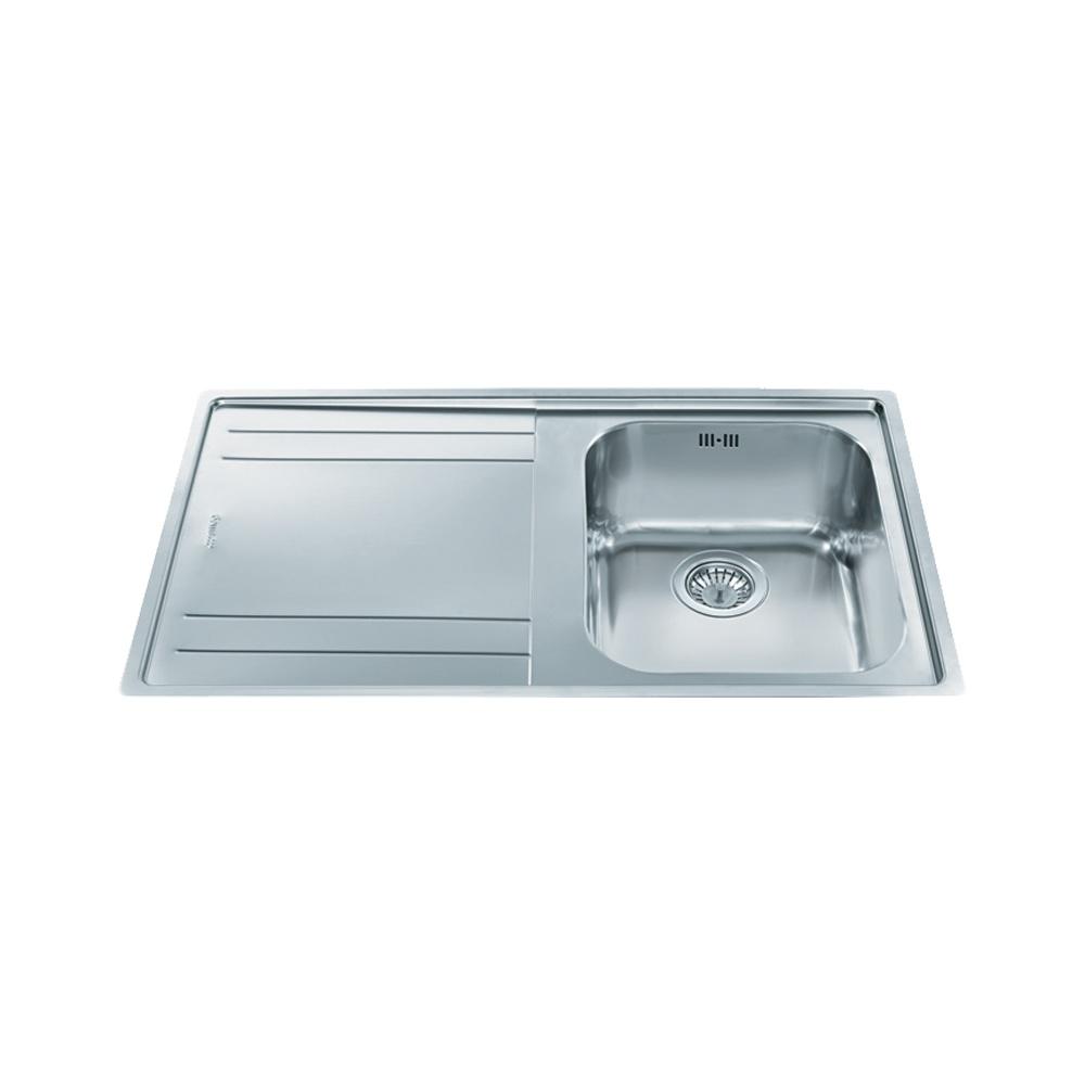Smeg Rigae 1.0 Bowl Brushed Stainless Steel Kitchen Sink & Waste ...