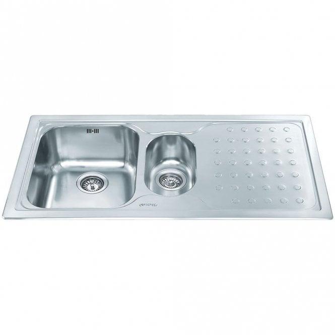 Smeg Stilla 1.5 Bowl Brushed Stainless Steel Kitchen Sink & Waste ...