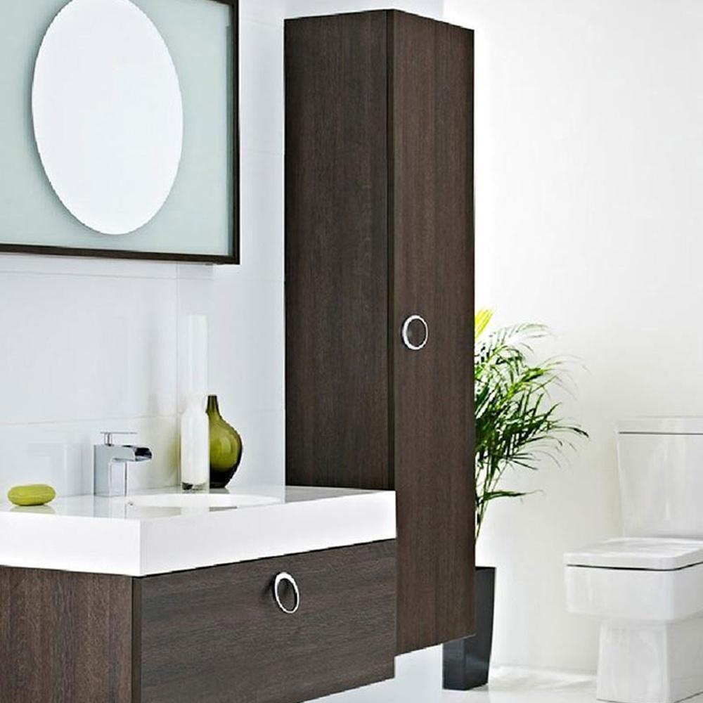 sonar 400mm oak wall mounted bathroom side cabinet none from taps uk
