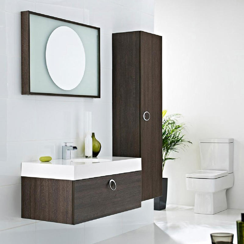 sonar 900mm oak wall mounted bathroom cabinet 1th basin side cabinet