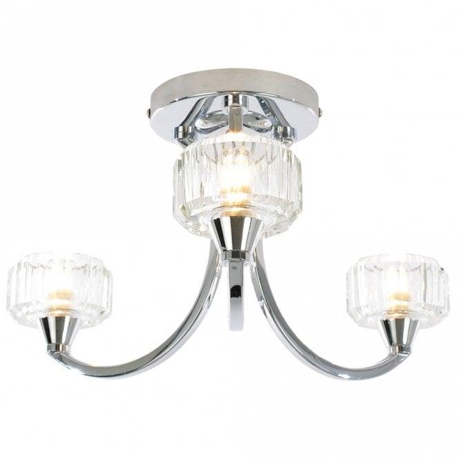 Spa Bathroom Lighting Octans 3 Light Ceiling Light IP44 ...