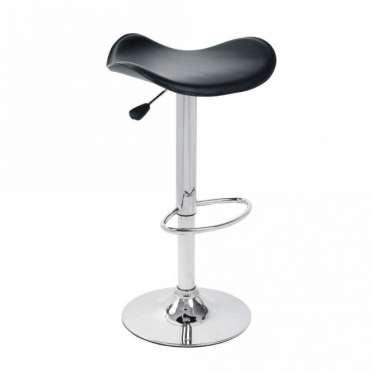 Spinelli Design Celleno Black Faux Leather Swivel Adjustable Height Bar Stool