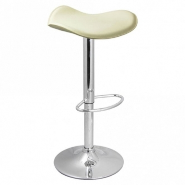 Spinelli Design Celleno Cream Faux Leather Swivel Adjustable Height Bar Stool