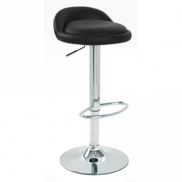 Spinelli Design Labaro Black Faux Leather Swivel Adjustable Height Bar Stool