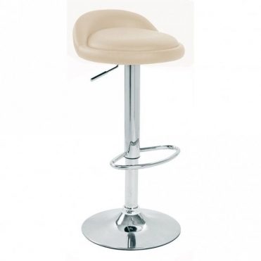 Spinelli Design Labaro Cream Faux Leather Swivel Adjustable Height Bar Stool