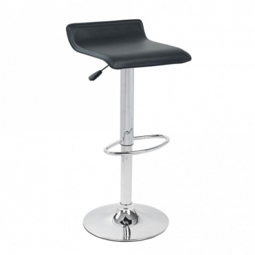 Spinelli Design Lenola Black Faux Leather Swivel Adjustable Height Bar Stool