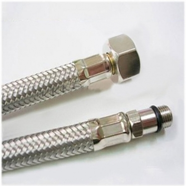None Standard 15mm Replacement Hot & Cold Mixer Tap Flexi Tails (pair X2) FH05