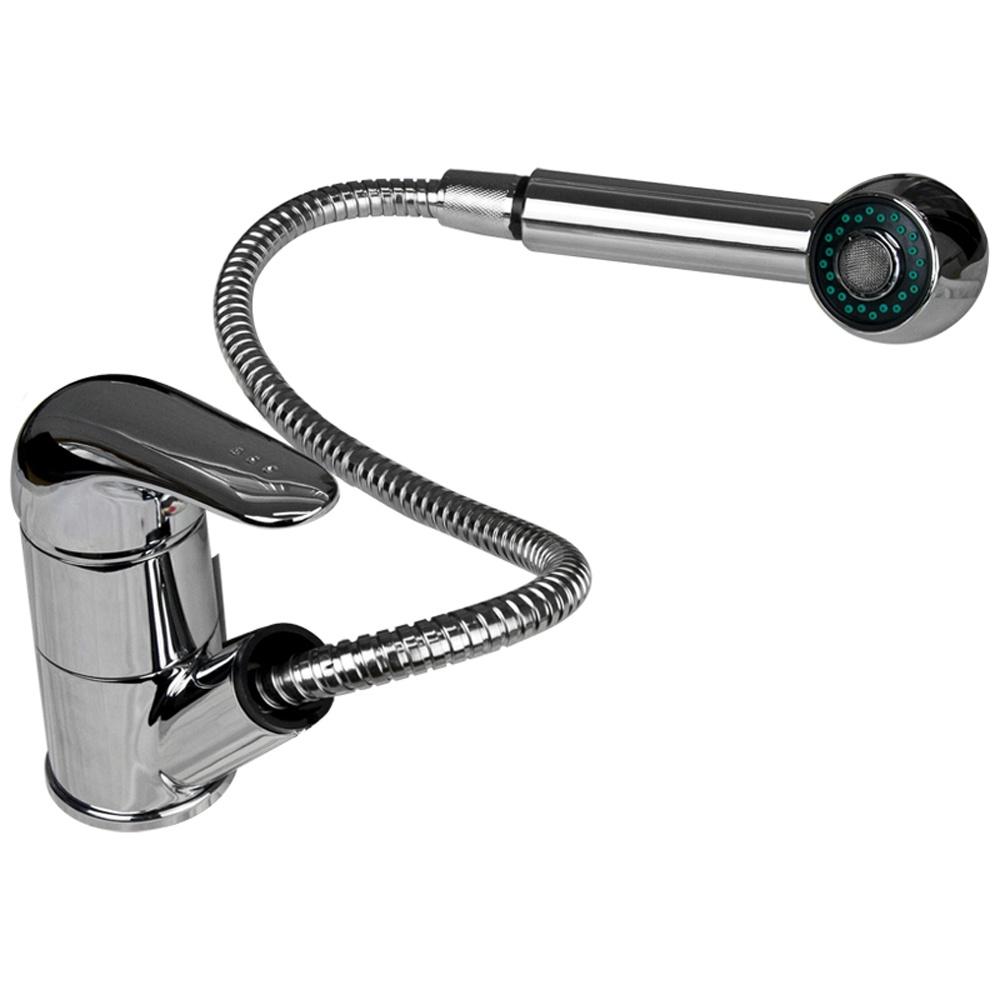 Tristar Chrome Monobloc Single Lever Pullout Spout Kitchen Sink ...