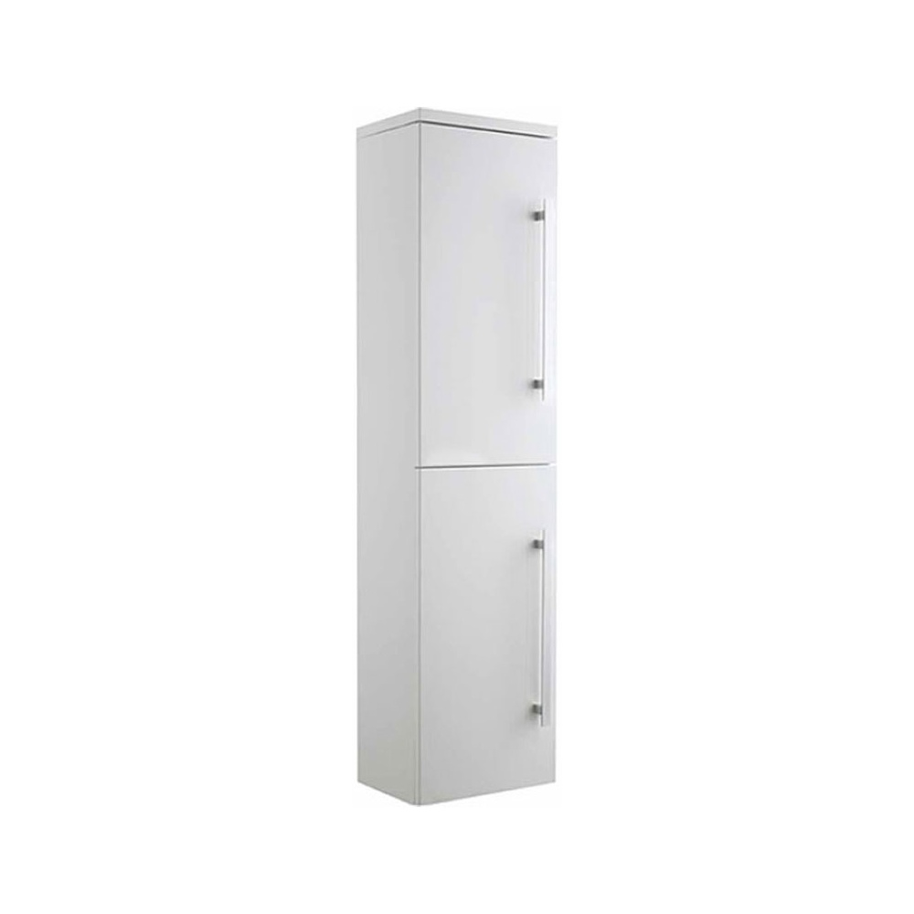 ultra design high gloss white wall mounted tall side cabinet cab032
