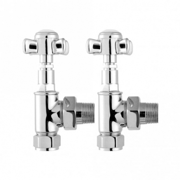 Home of Ultra Ultra Victorian Crosshead Chrome Radiator Valves - Angled HT336
