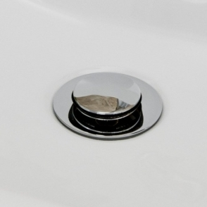 Universal Chrome Unslotted Click Clack Popup Basin Waste Cca