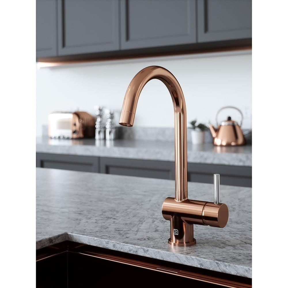 Vibrance Single Lever Copper Kitchen Sink Mixer Tap Vibrant Taps From Taps Uk