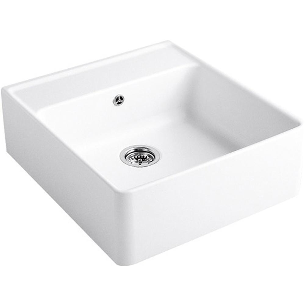 Villeroy & Boch Butler 60 1.0 Bowl White Ceramic Kitchen Sink - NO ...