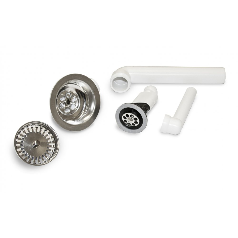 villeroy  u0026 boch chrome kitchen sink basket strainer waste kit 8244 00 61 villeroy  u0026 boch chrome kitchen sink basket strainer waste kit 8244      rh   tapsuk com