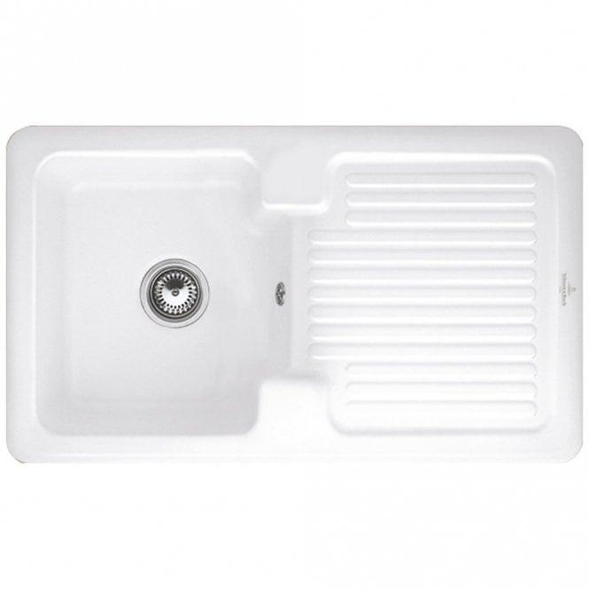 Villeroy & Boch Condor 50 1.0 Bowl White Ceramic Kitchen Sink RHD ...