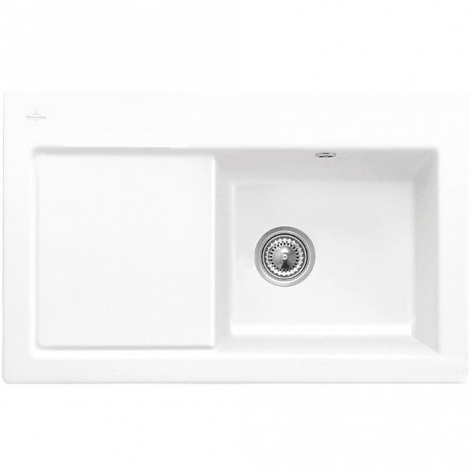 Villeroy boch subway 45 10 bowl white ceramic kitchen sink lhd villeroy boch subway 45 10 bowl white ceramic kitchen sink lhd no waste workwithnaturefo