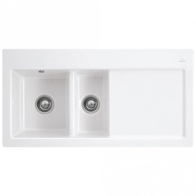 Villeroy boch subway 60 xr 15 bowl white ceramic kitchen sink rhd villeroy boch subway 60 xr 15 bowl white ceramic kitchen sink rhd waste workwithnaturefo
