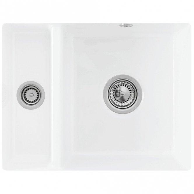 Villeroy Boch Subway Xu 1 5 Bowl White Ceramic Undermount Kitchen Sink Waste