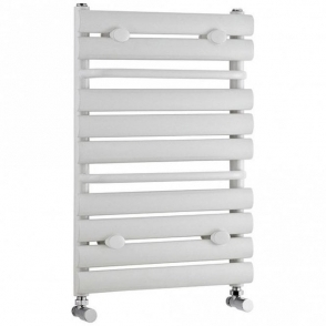 White Ladder Rail Radiator Inc Built In Towel Rail 650mm X 445mm